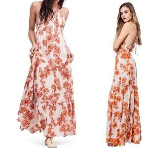 Free People Orange Garden Party Maxi Dress P302